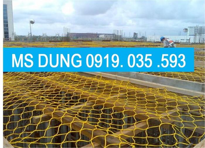 Lưới an toàn, bao che chắn bụi công trình lưới dù trắng mắt 5cm, 12cm, 2