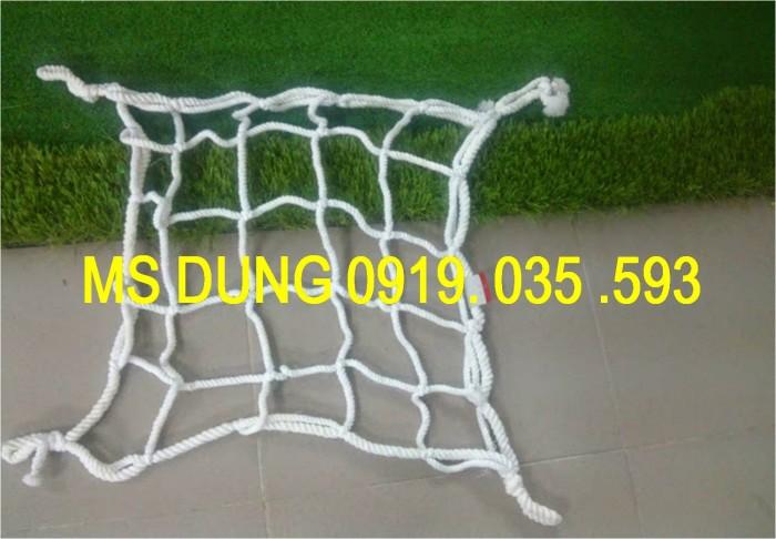 Lưới an toàn, bao che chắn bụi công trình lưới dù trắng mắt 5cm, 12cm, 3