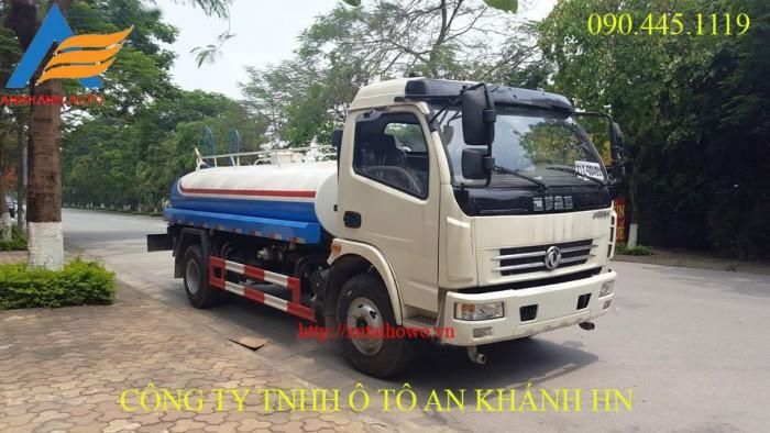 Xe phun nước rửa đường ,tưới cây Dongfeng 5 khối