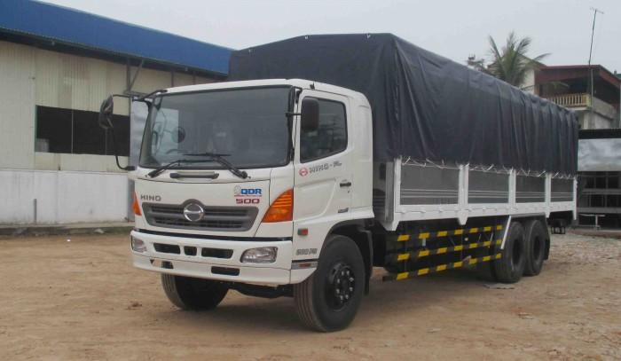 Bán xe tải Hino FL8JTSL giá tốt, 15 tấn, thùng mui bạt siêu dài