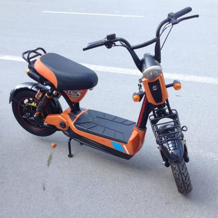 Xe điện 133s plus màu cam 5 bình đời mới nhất