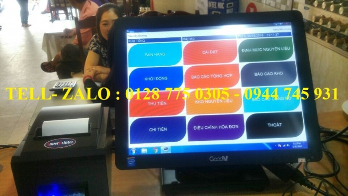 Máy tính tiền cảm ứng cho quán cafe, nhà hàng tại Tân Phú1