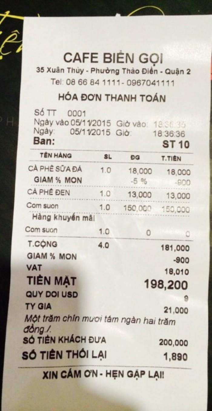 Máy tính tiền cảm ứng cho quán cafe, nhà hàng tại Tân Phú2