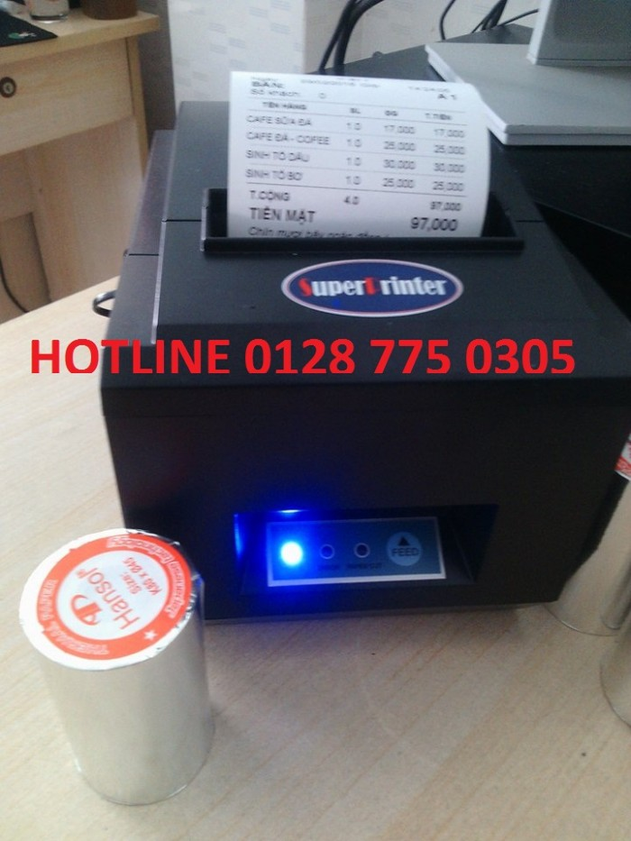 Máy in hóa đơn cho quán cafe, nhà hàng tại Tân Phú0
