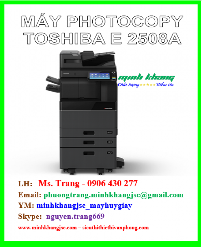 Máy photocopy Toshiba 2508a hiệu suất cao giá cực rẻ0