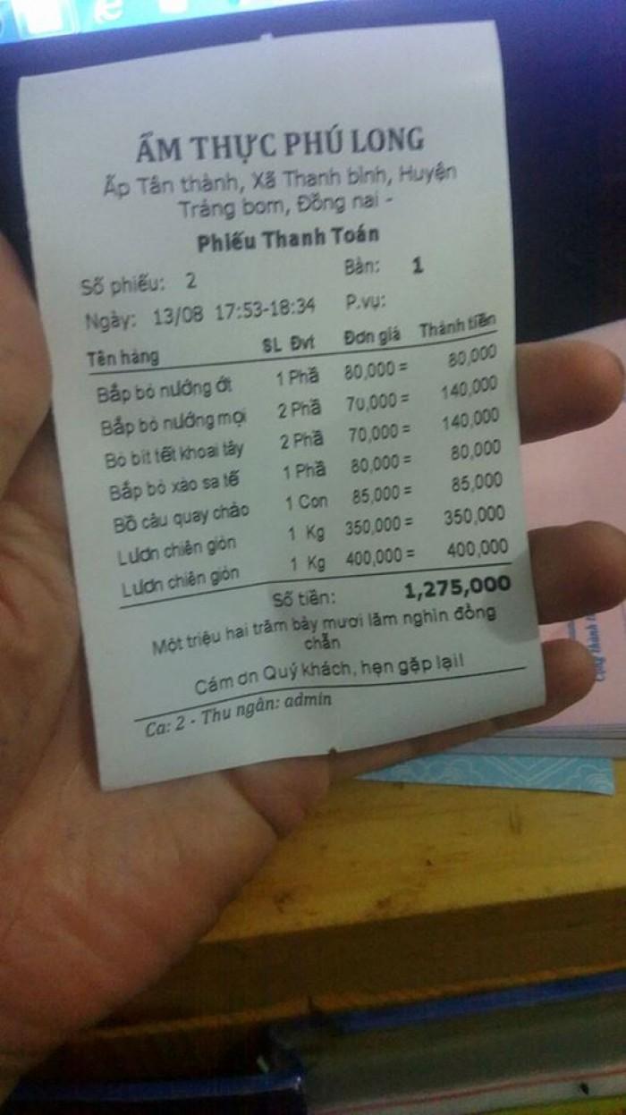 Máy in hóa đơn cho quán cafe, nhà hàng tại Đồng Nai1