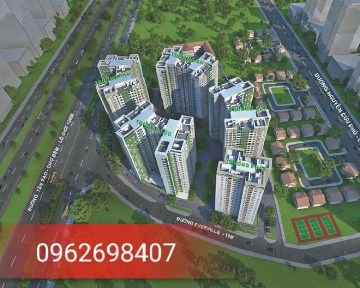 Bán căn hộ chung cư Tecco Town Bình Tân có view hồ bơi hướng về q.1 và q.7