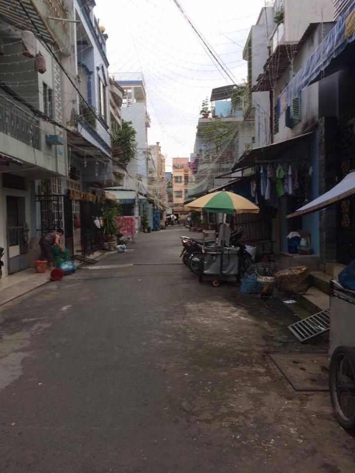 Bán nhà 5.25 tỷ, 9x18m, hẻm 8m Lũy Bán Bích, P. Phú Thạnh, Q. Tân Phú.