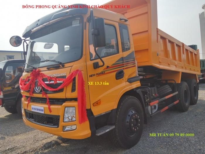 Bán xe tải ben Trường Giang 3 chân 13.3 tấn tại Quảng Ninh