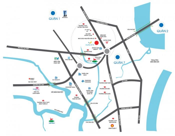 CĐT mở bán đợt cuối căn hộ Luxcity - Huỳnh Tấn Phát, giá 1,8 tỷ, DT 68m2