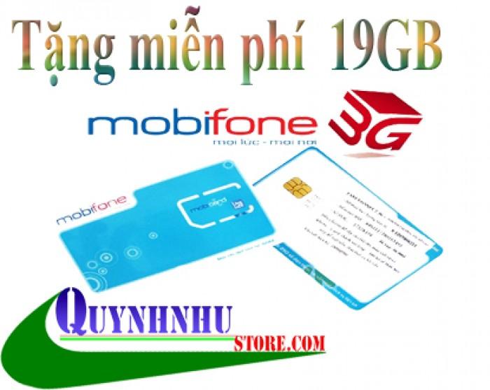 SIM 3G MOBIFONE TẶNG 19GB  MIỄN PHÍ (119k)