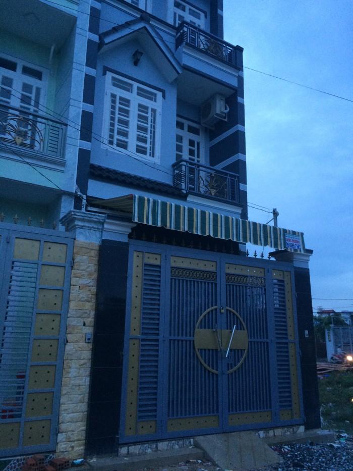 Nhà biệt thự đường Bình Thành 4x16 đúc thật SHR MT 6m 4x16 2Ty