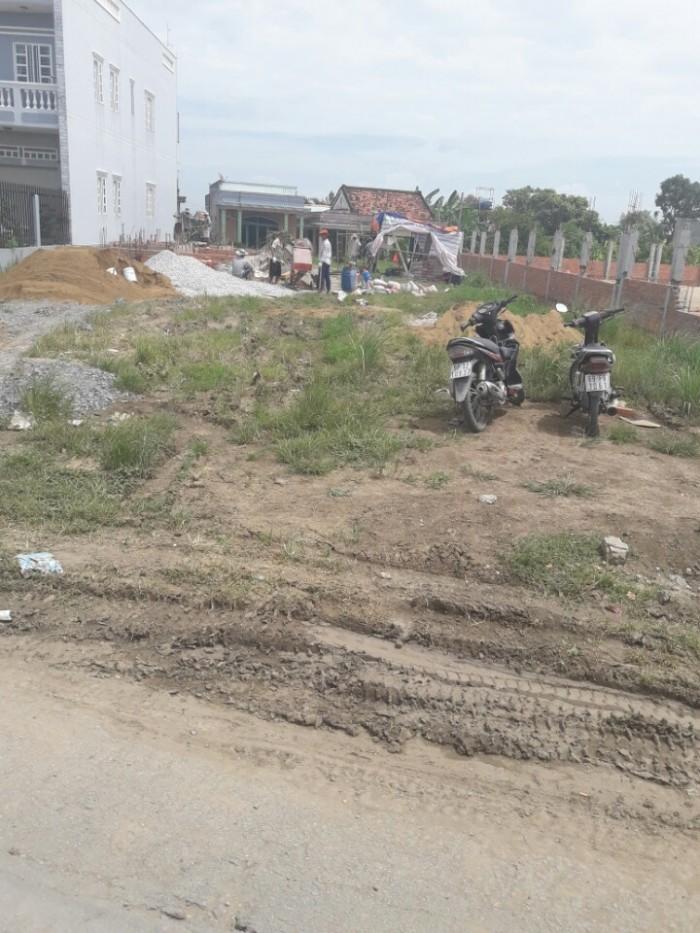 Bán đất thổ cư Bình Chánh 100m2 125tr, mặt tiền quốc lộ 1A, có shr,xây dựng tự do