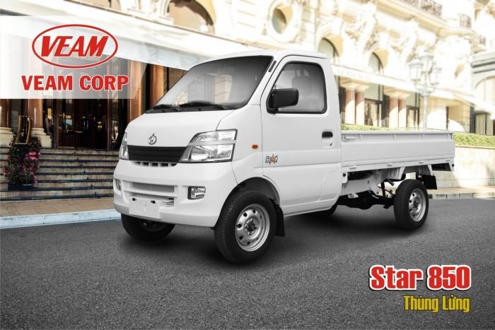 Xe tải 850kg, nhãn hiệu veam start, màu trắng