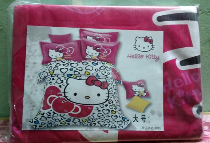 Drap giường Hello Kitty, bộ drap hello kitty