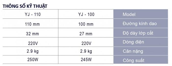 Máy cắt vải cầm tay YJ 100/1101