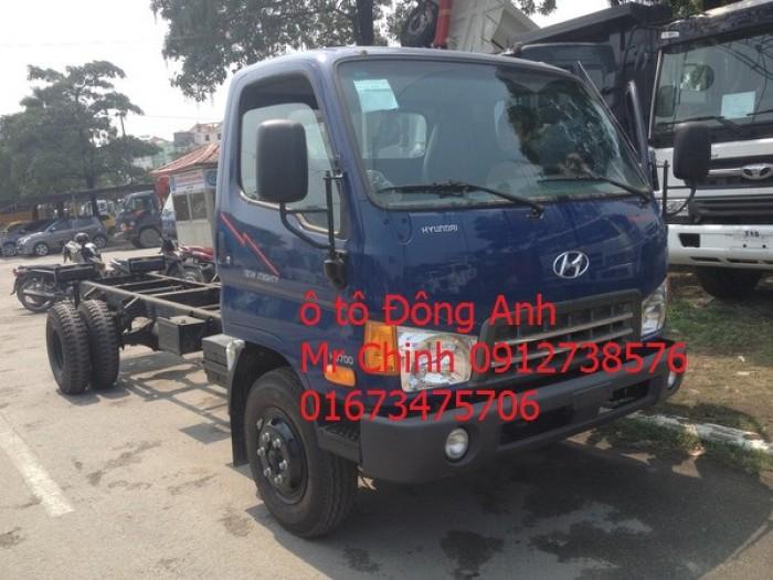 Bán xe tải veam hyundai hd700 - 7 tấn thùng ,mui bạc, thùng kín