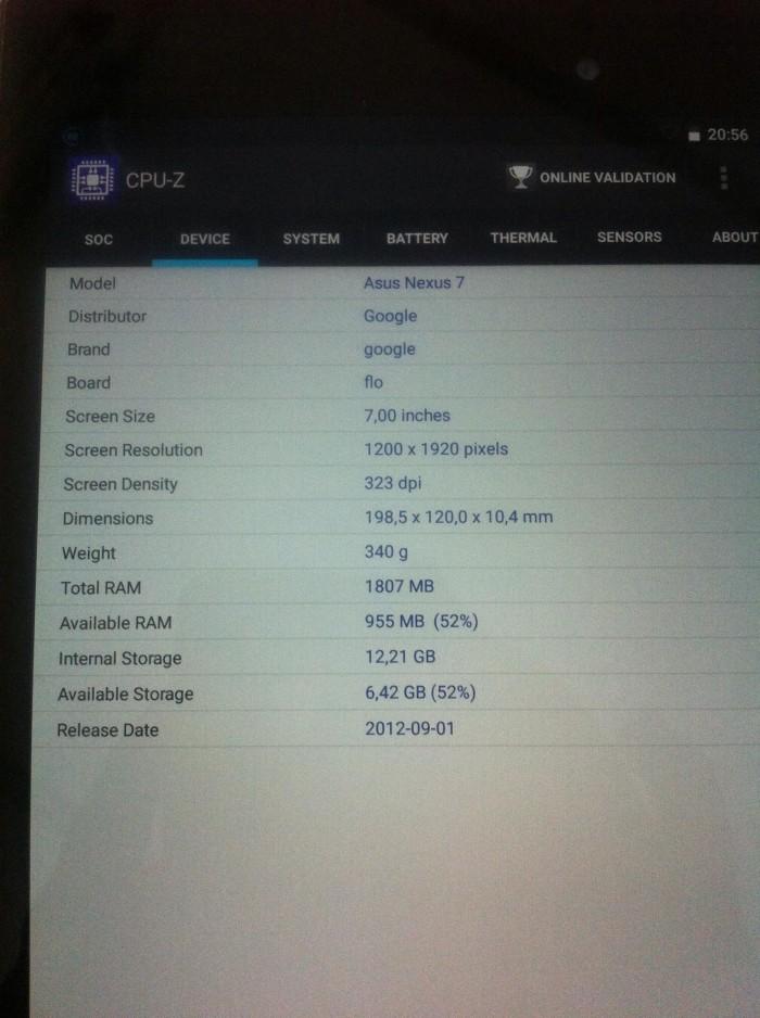 Google Nexus 7 Gen 2 16G Only Wifi Zin