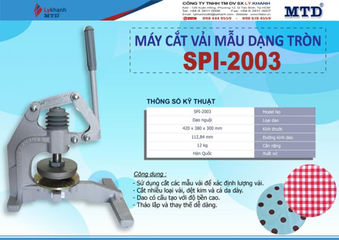 Máy cắt vải mẫu tròn SPI-20030