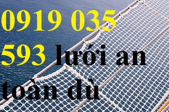Lưới an toàn sử dụng cho tàu biển, lưới an toàn hứng rơi trên cao, lưới dù, nhựa