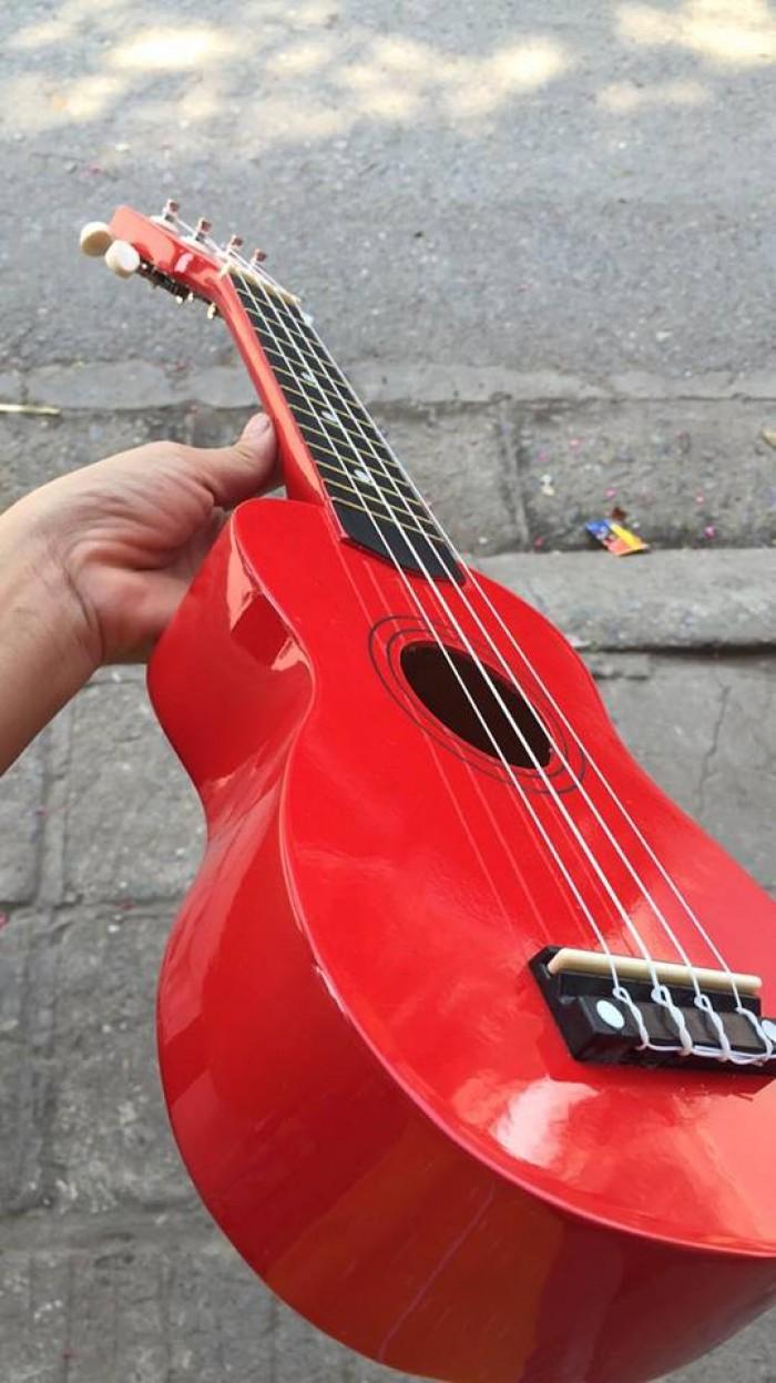 Đàn ukulele 4 dây màu đỏ mới