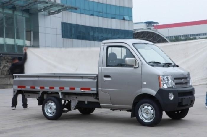 Xe tải 850kg, hiệu dongben, thùng lững, màu xám 0