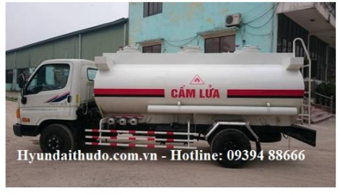 Xe tec chở xăng dầu Hyundai hd700 đồng vàng 7,2 tấn