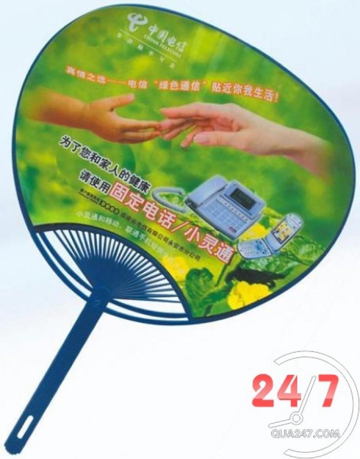 Quạt nhựa decal in quảng cáo offset 2 mặt full màu sắc giá rẻ nhất thị trường