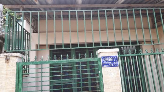 Nhà 496/99/11 Dương Quảng Hàm, Phường 6, Gò Vấp, Hẻm 3,5m, 4.3x16.5m, Cấp 4, 2PN, Đông Bắc