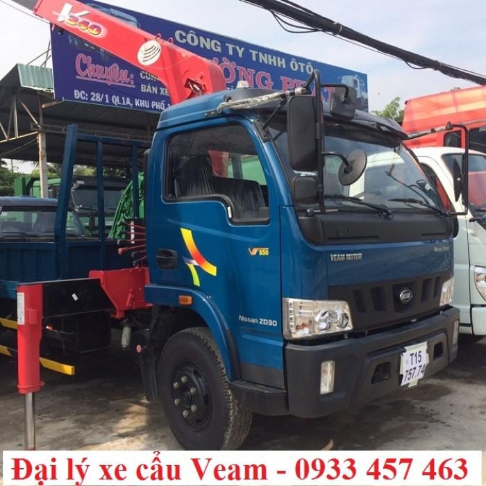 Chuyên phân phối các loại Xe Veam  có gắn cẩu, xe tải cẩu Veam 2 chân VT650 nhập khẩu chính hãng mới 100%  nguyên chiếc