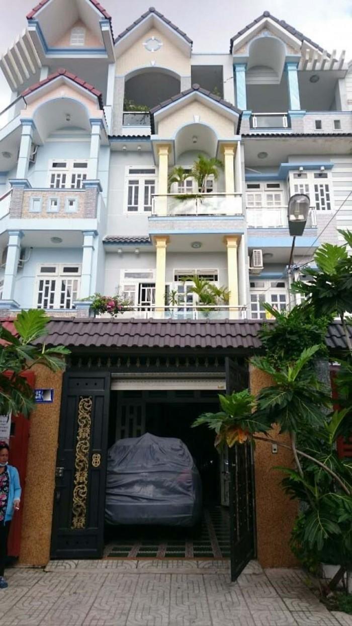 Nhà Hẻm 25 Bùi Quang Là, phường 12, Gò Vấp, HXH 7m, 4x20m, 1Trệt+3lầu, 4PN,5WC, Tây Bắc