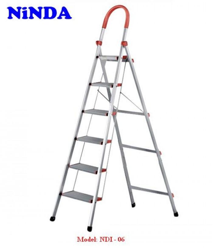 Model : PRN-06  Số bậc : 06 bậc  Chiều cao toàn thang : 190  cm  Chiều cao sử dụng      : 147 cm  Khoảng cách các bậc  :  25,5 cm  Khoảng cách 2 chân khi sử dụng : 63,5 cm  Khoảng cách hai chân thang : 102 cm  Chất liệu mặt bậc : Nhôm T6063  Độ dày mặt bậc    : 1,0 mm  Kích thước mặt bậc : 13 cm  Kích thước mặt bậc trên cùng: 18 cm  Tải trọng tối đa      : 150 kg  Khối  lượng thang  : 6,2 kg3