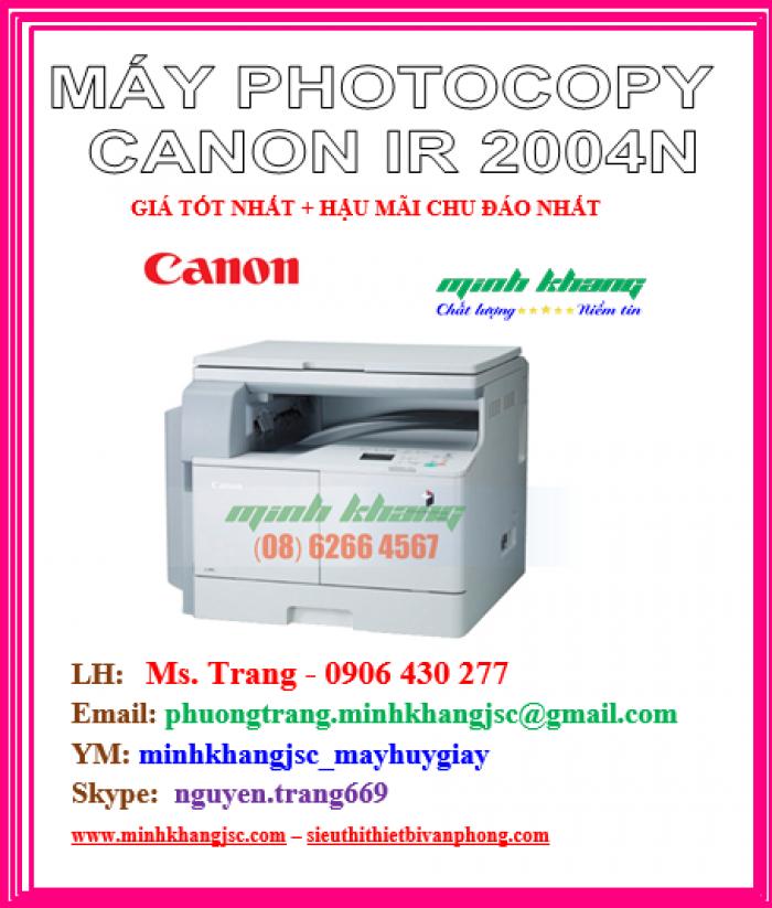 Máy photocopy để bàn A3 Canon 2004N in mạng kết nối wireless giá cực rẻ0