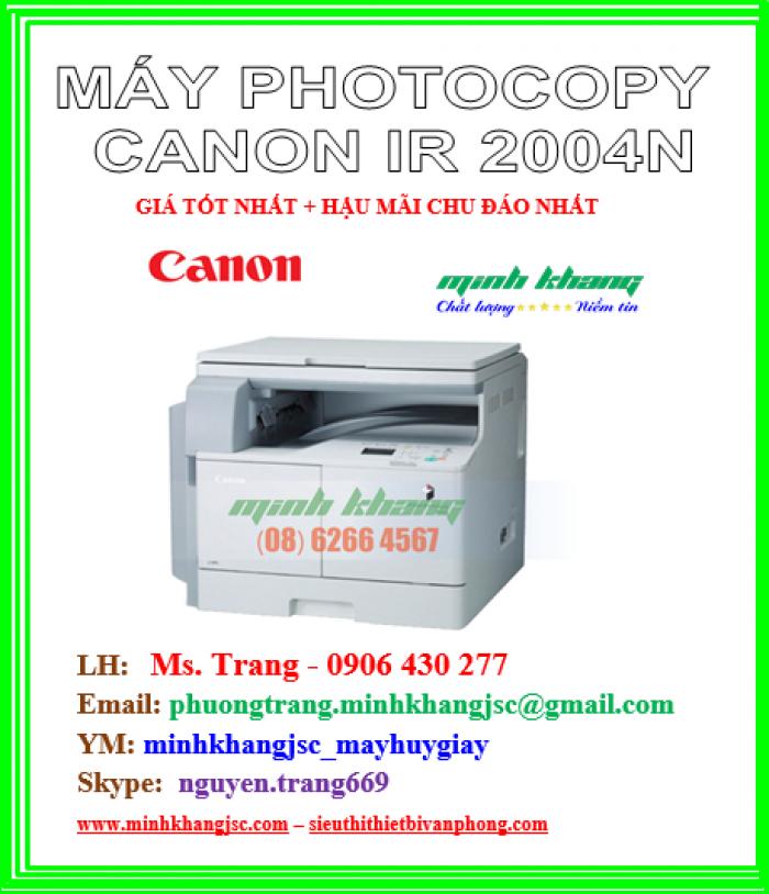 Máy photocopy để bàn A3 Canon 2004N in mạng kết nối wireless giá cực rẻ2