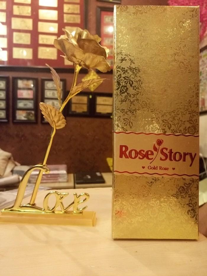 Hoa hồng mạ vàng0
