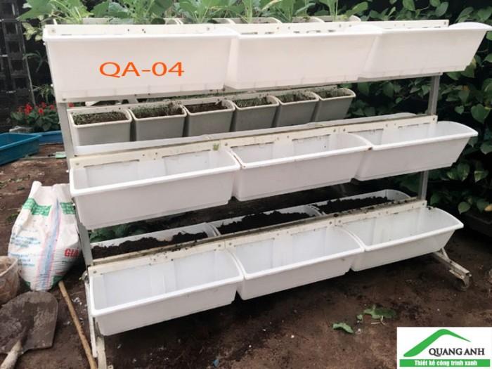 Bộ trồng rau QA04 ốp tường thông minh