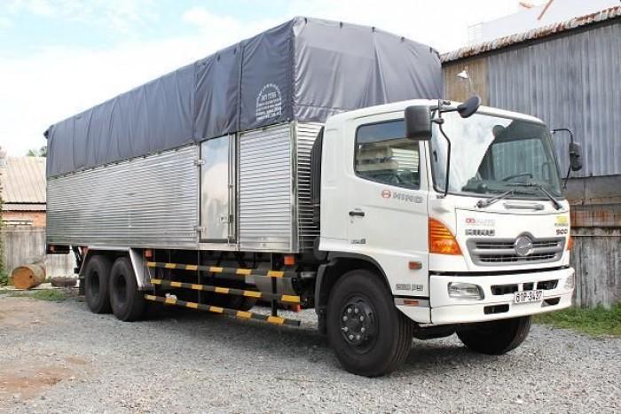 Bán xe tải Hino FL8JTSL 3 chân 16 tấn thùng phủ bạt 9m4 2016 giá 1 tỷ 540 triệu