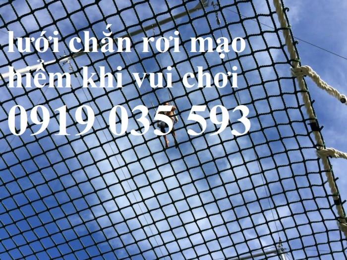 Lưới an toàn bao che công trình xây dựng màu xanh, lưới nhựa, dù, polyester, 5
