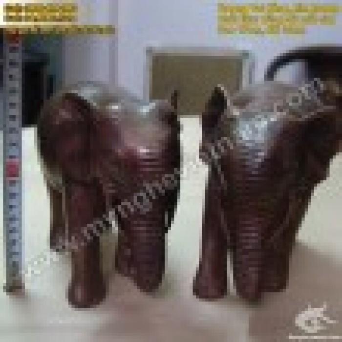 Tượng voi đồng cao 10cm và 20cm – Linh vật phong thủy1