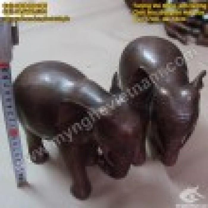 Tượng voi đồng cao 10cm và 20cm – Linh vật phong thủy3