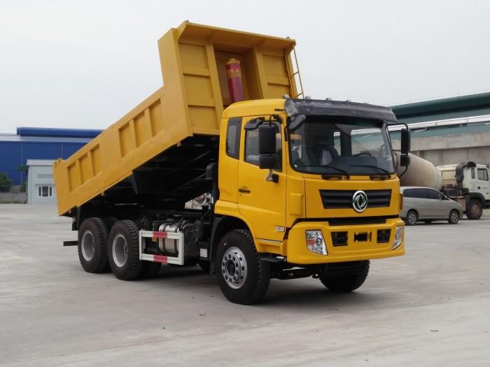 Bán xe tải ben 3 chân Dongfeng thùng vuông nhập khẩu