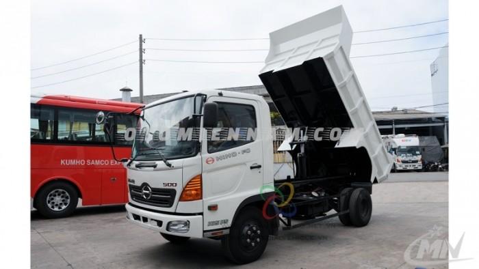 Cần bán xe tải hino thùng lửng, Xi téc dầu, Ép rác, thùng ben 6T4 thùng 4m5, có sẵn giao ngay