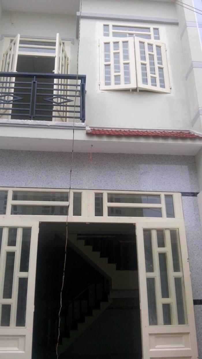 Nhà bán 1 trệt 1 lầu gần cây xăng V.Lộc, đg V.Lộc A,giá 840tr/căn