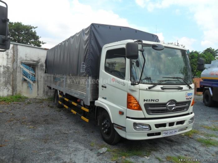 Điểm bán xe Hino FC 6.4 Tấn FC9JESW thùng mui bạt ở Miền Nam