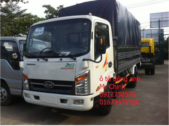 Bán xe tải veam vt252, 2 tấn 4, bán xe tải chạy trong thành phố, động cơ hyundai