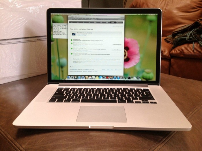 Macbook Pro Retina MC976 2012 i7 2.6 Ram 16GB SSD 256GB GT650 1GB 99%