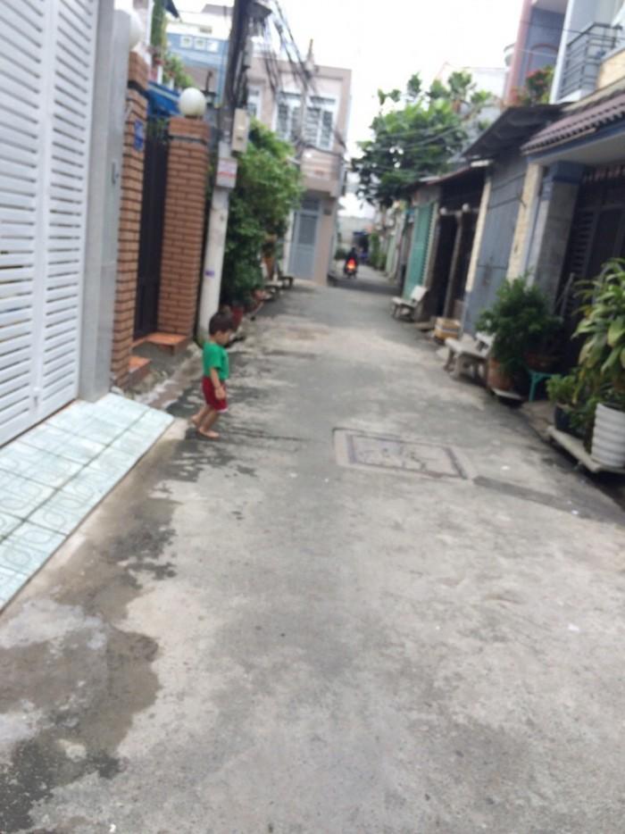 Nhà Hẻm 74 Bùi Quang Là, phường 12, Gò Vấp, HXH Thông, 4x14m, 1Trệt+2,5lầu, 3PN,3WC, Đông Nam