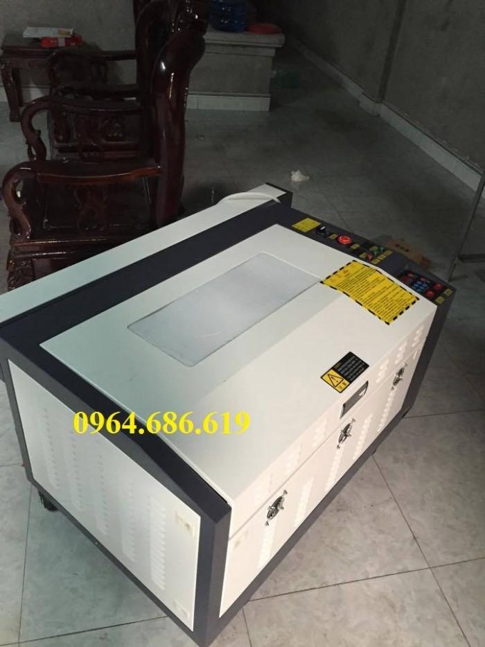 Máy laser 6040 cắt da, cắt vải vi tính cực đẹp