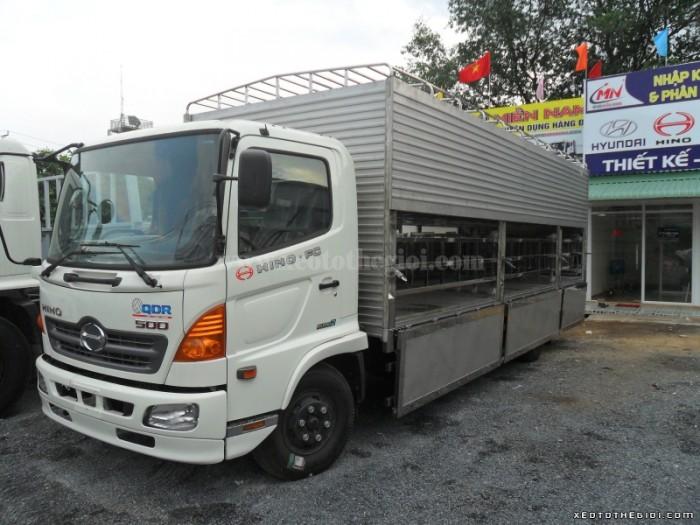 Xe tải Hino chở heo 6 tấn FC9JLSW 2016, có hỗ trợ cho vay và bán trả góp.