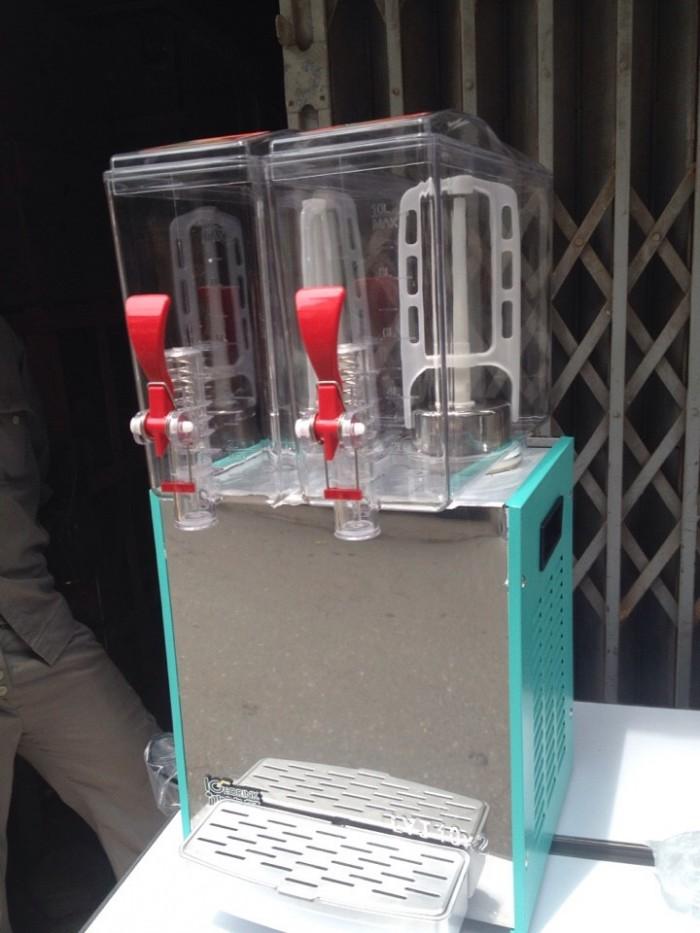Máy làm lạnh nước trái cây 2 ngăn, máy làm lạnh nước hoa quả